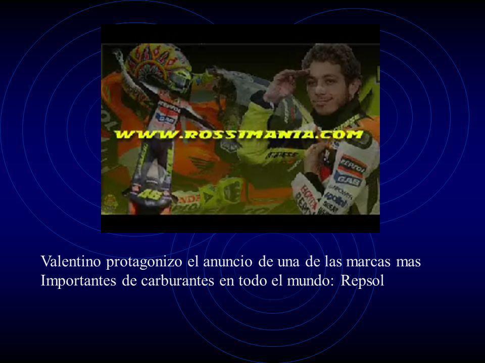 Valentino protagonizo el anuncio de una de las marcas mas Importantes de carburantes en todo el mundo: Repsol