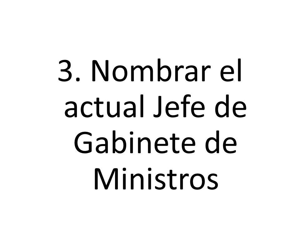3. Nombrar el actual Jefe de Gabinete de Ministros