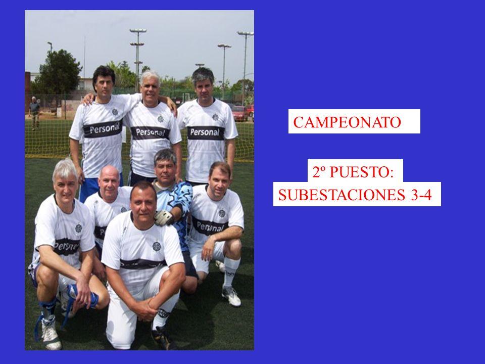 CAMPEONATO 2º PUESTO: SUBESTACIONES 3-4