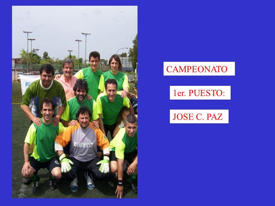 CAMPEONATO 1er. PUESTO: JOSE C. PAZ