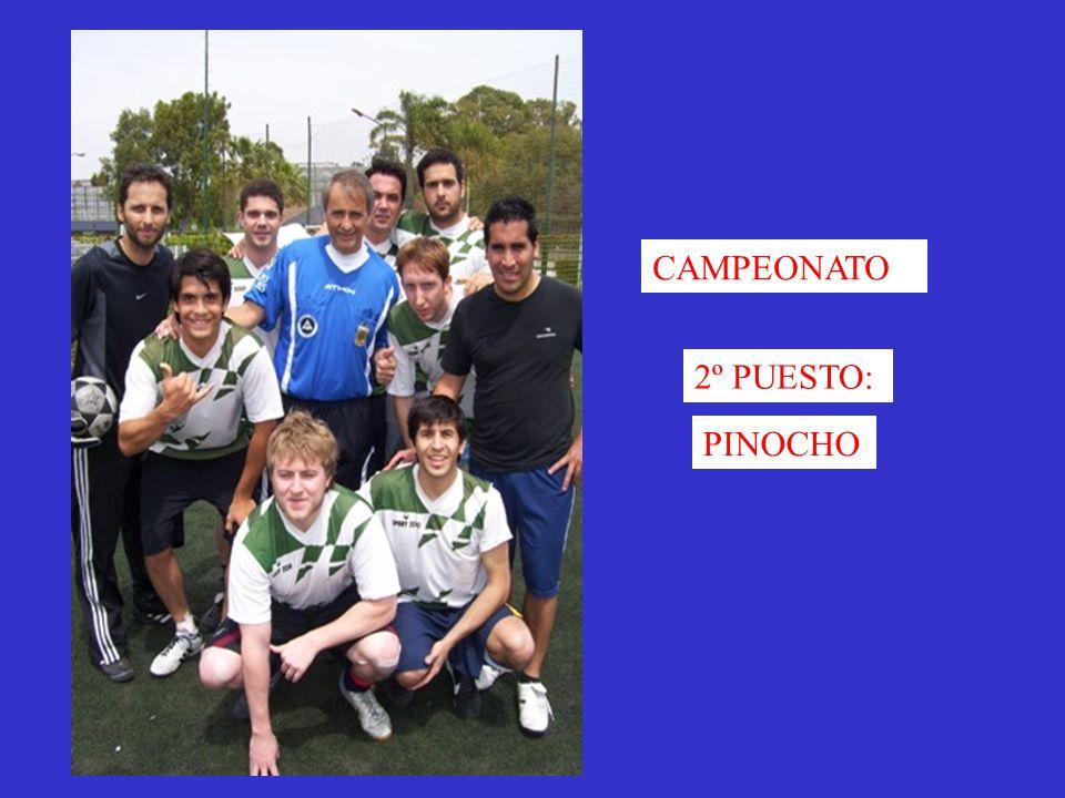 CAMPEONATO 2º PUESTO: PINOCHO