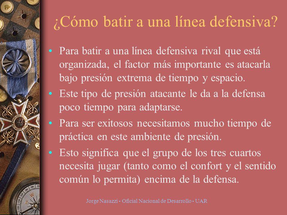 Jorge Nasazzi - Oficial Nacional de Desarrollo - UAR ¿Cómo batir a una línea defensiva.