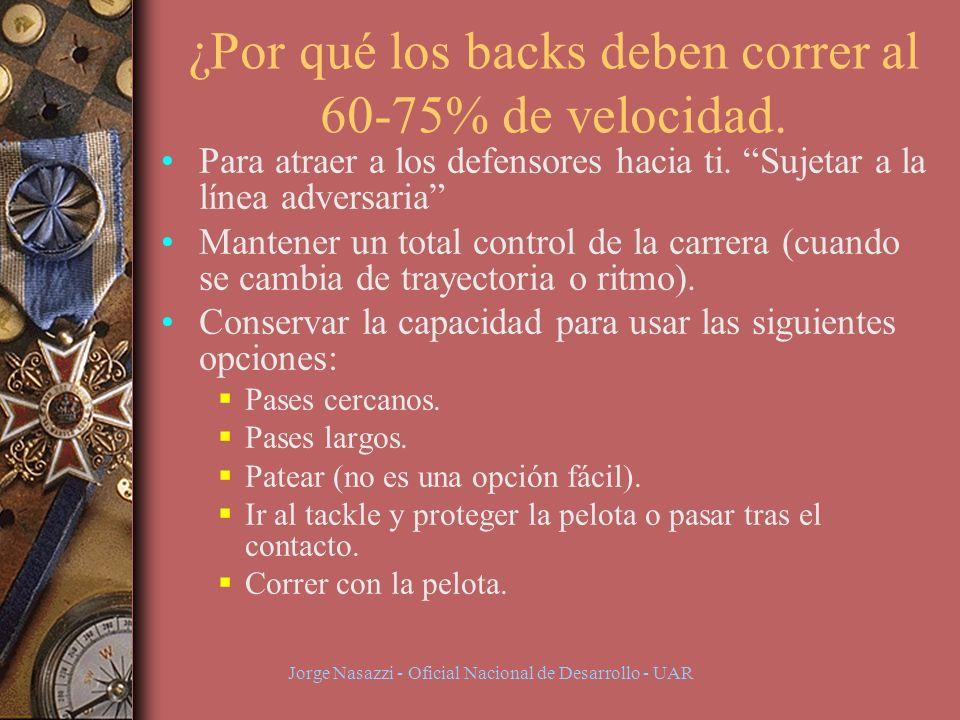 Jorge Nasazzi - Oficial Nacional de Desarrollo - UAR ¿Por qué los backs deben correr al 60-75% de velocidad.