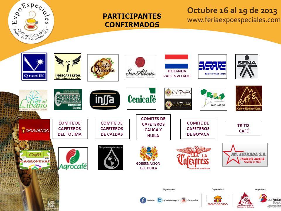 ISELCO CAFESCOOP COMITE DE CAFETEROS DE NORTE DE SANTANDER PARTICIPANTES CONFIRMADOS