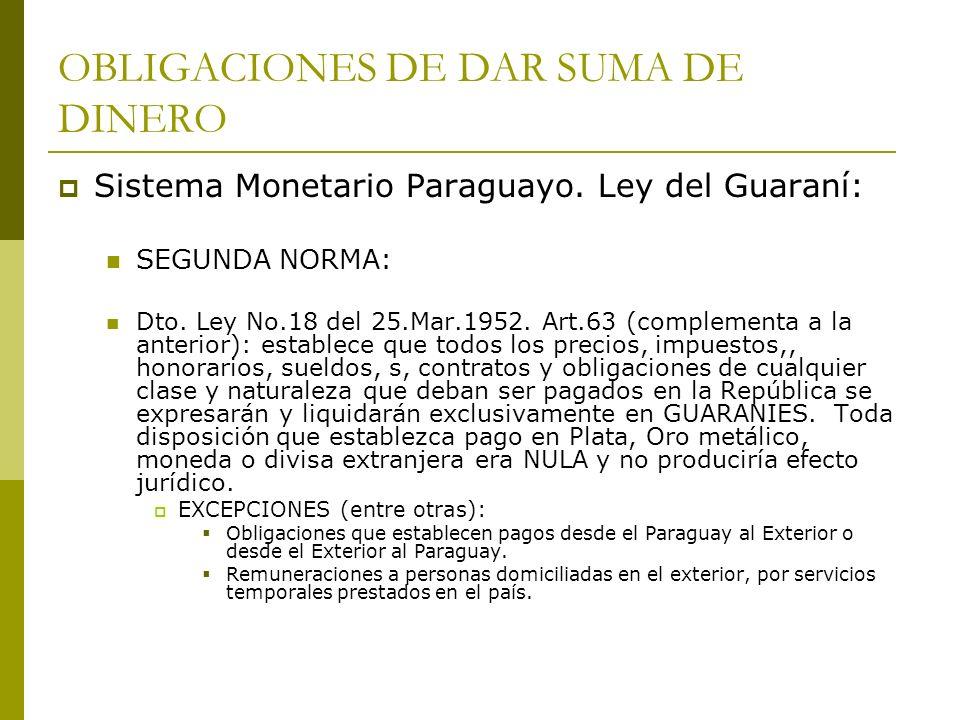Reforma del Sistema Monetario Paraguayo.