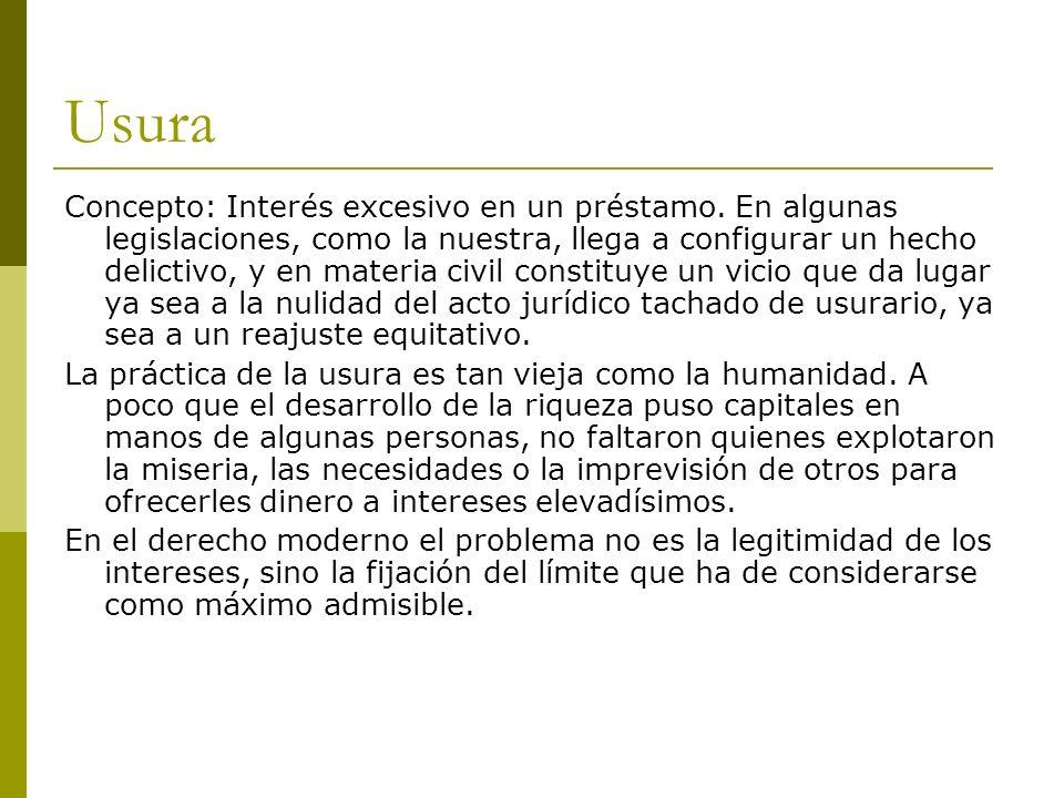 EL DELITO DE USURA Artículo 193 Código Penal.