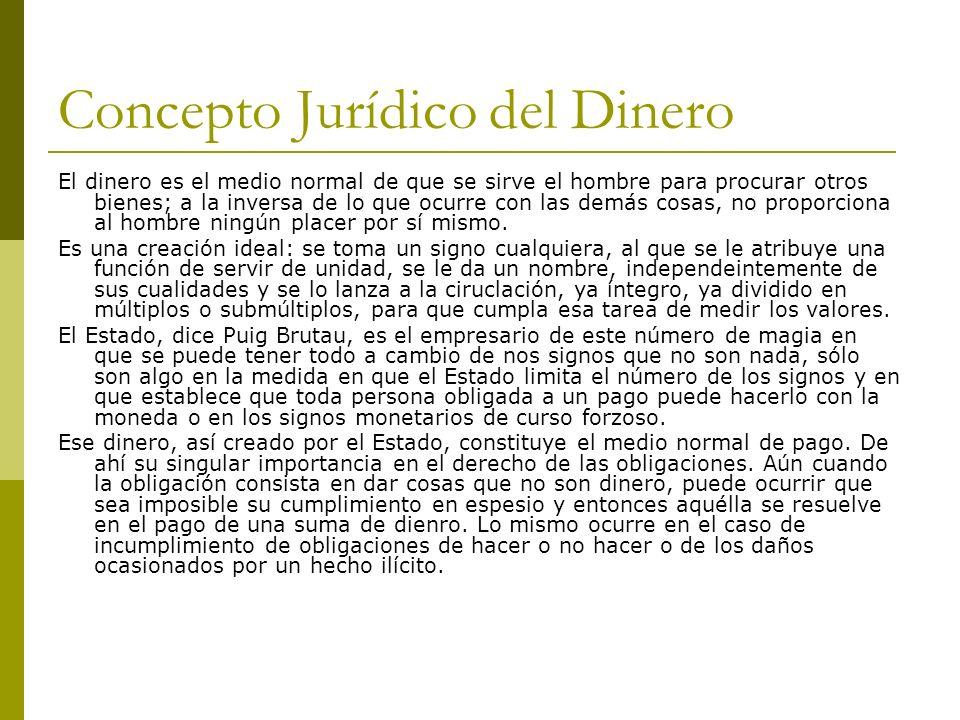 OBLIGACIONES DE DAR SUMA DE DINERO DIVERSAS CLASES DE MONEDA.