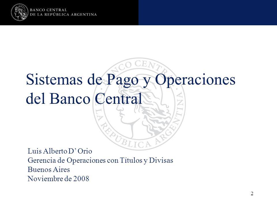 Nombre de la presentación en cuerpo 17 23 Operaciones de los participantes con el Banco Central Com A 2631/97 TRANSFERENCIA DE DIVISAS DOLARES ESTADOUNIDENSES SOLICITUD DE NUMERARIO OPERACIONES DE PASE ACTIVAS A PLAZO LIQUIDACION DE OPERACIONES DE CONVENIO DE PAGO OPERACIONES CON LA CRyL Fin evitar el débito por parte del BCRA en horario de funcionamiento del MEP