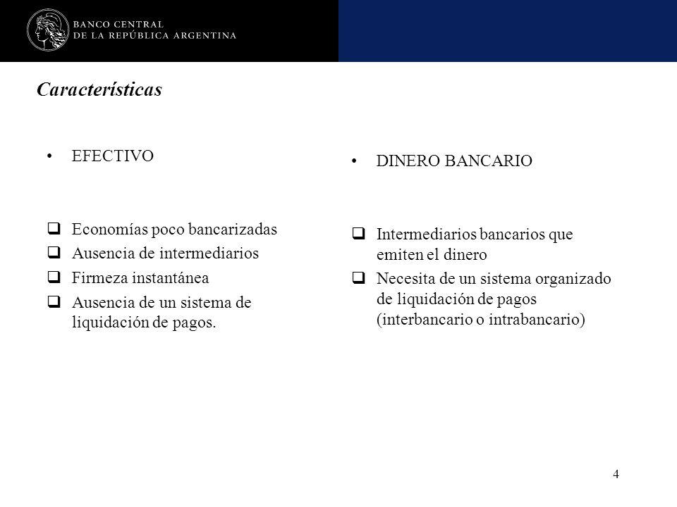Nombre de la presentación en cuerpo 17 4 Características EFECTIVO Economías poco bancarizadas Ausencia de intermediarios Firmeza instantánea Ausencia