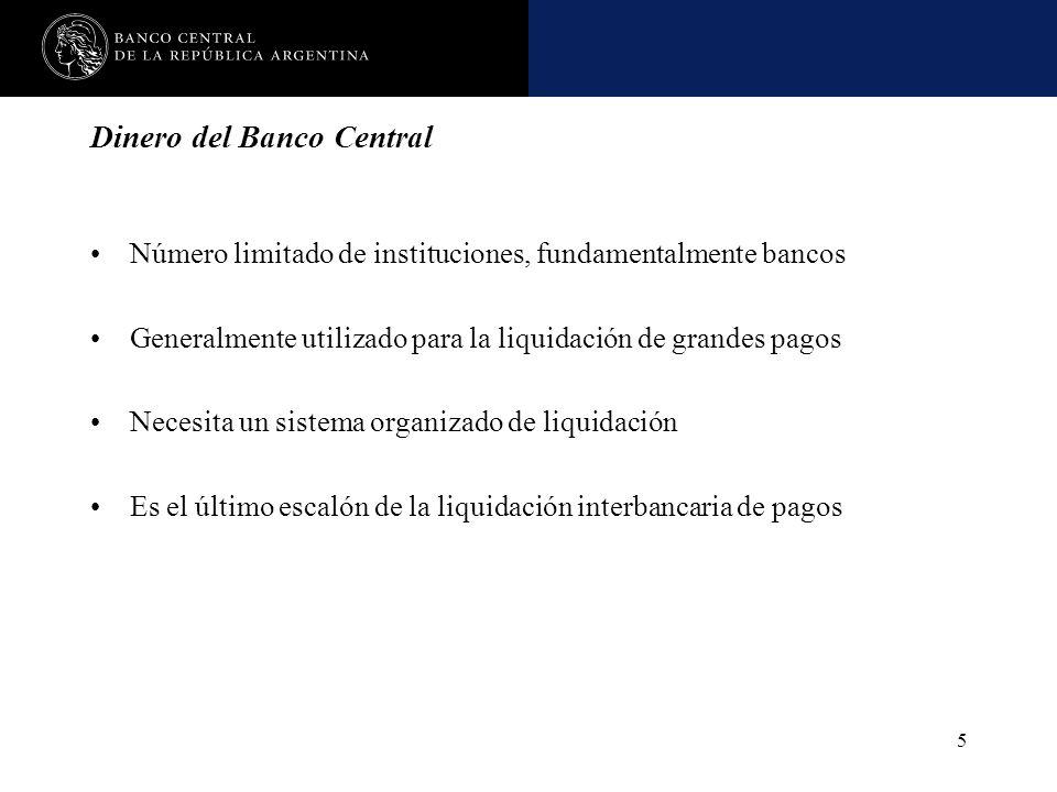 Nombre de la presentación en cuerpo 17 5 Dinero del Banco Central Número limitado de instituciones, fundamentalmente bancos Generalmente utilizado par