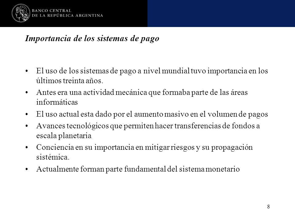 Nombre de la presentación en cuerpo 17 8 Importancia de los sistemas de pago El uso de los sistemas de pago a nivel mundial tuvo importancia en los úl