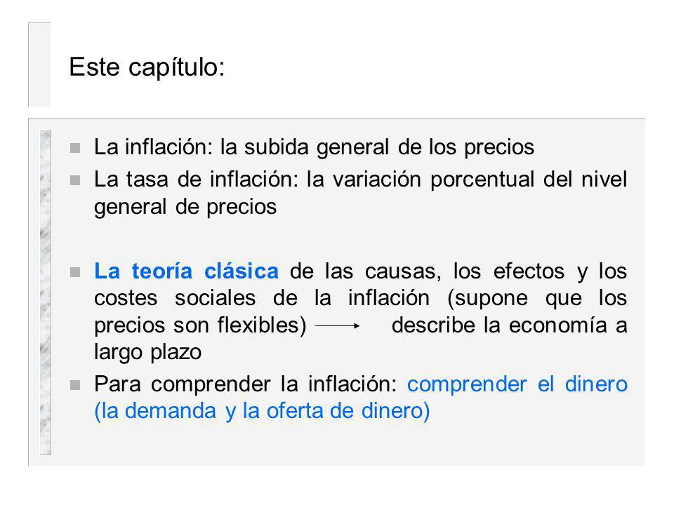 Capítulo 7 El dinero y la inflación