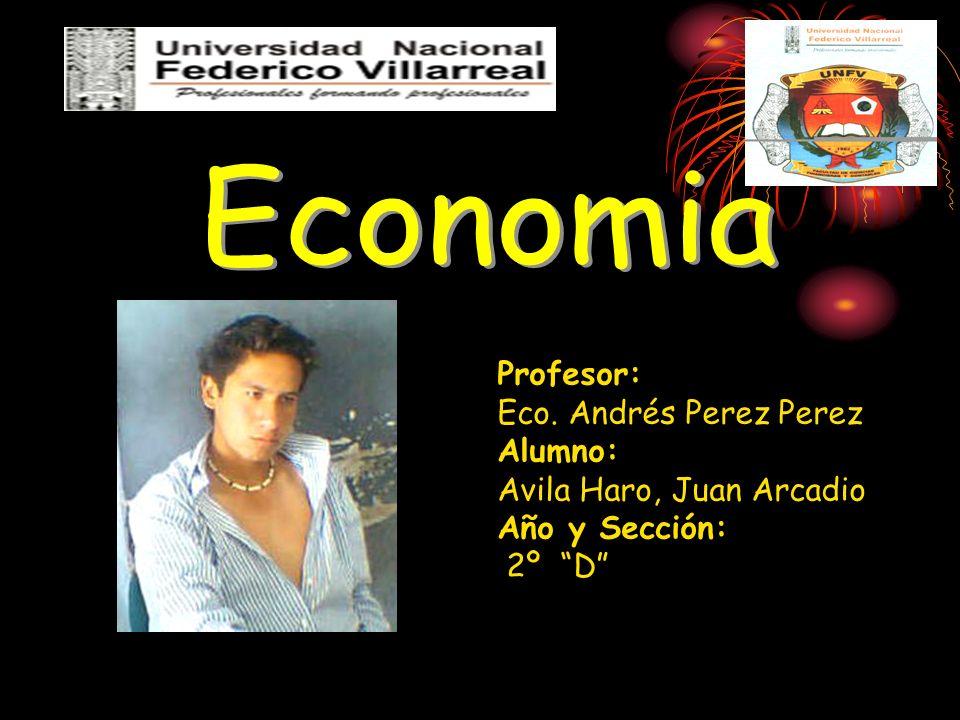 Profesor: Eco. Andrés Perez Alumno: Avila Haro, Juan Arcadio Año y Sección: 2º D