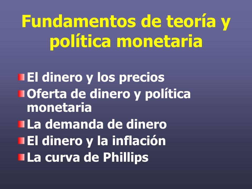 La oferta monetaria y los bancos La oferta monetaria se define como: M = E + D La oferta monetaria comprende dos tipos de emisión: Emisión primaria: Impresión de billetes y acuñación de moneda por parte del Banco Central.