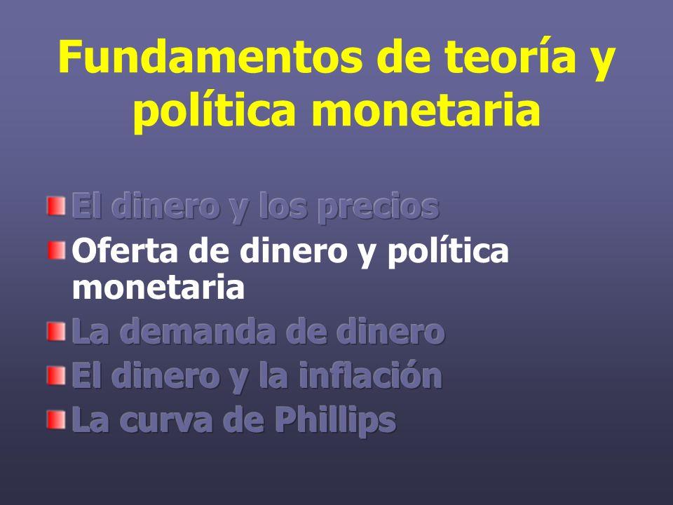 Efectos de la inflación: El señoraje El gobierno tiene tres formas de financiar su gasto: impuestos, tarifas y la impresión de dinero o señoraje.