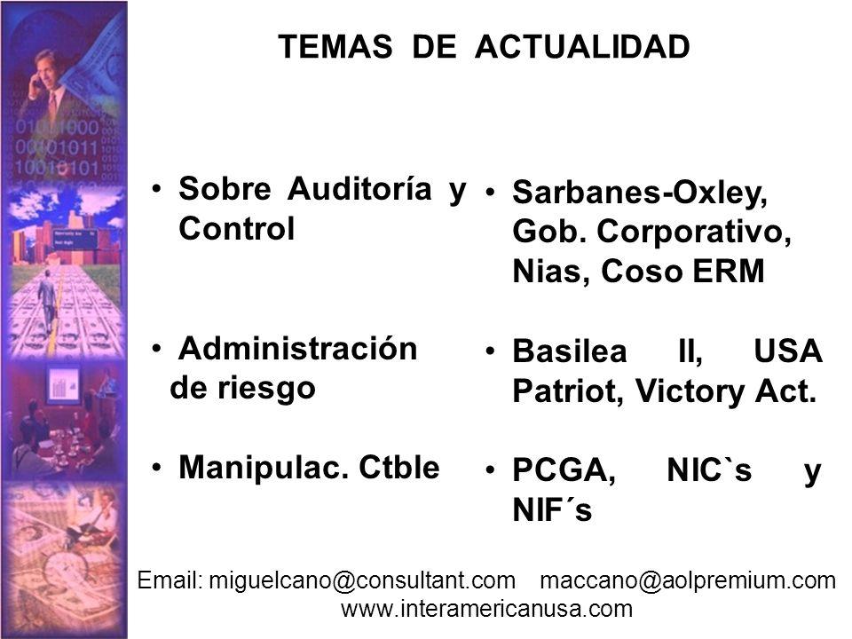 Caso 1 Blanqueo de US$21 millones en el mercado de valores Sierra del Nilo S:A No aparece registrada ni en Cali ni en Bogotá Nota: en las tres compañías aparecían los mismos miembros en las juntas directivas así como los suplentes, dos de ellos aceptaron los cargos y se acogieron a sentencia anticipada Fecha de creación: Julio de 1989 Capital: US$178.000= LAVADO DE DINERO EN BOLSA DE VALORES Y PUESTOS DE BOLSA Email: miguelcano@consultant.com maccano@aolpremium.com www.interamericanusa.com