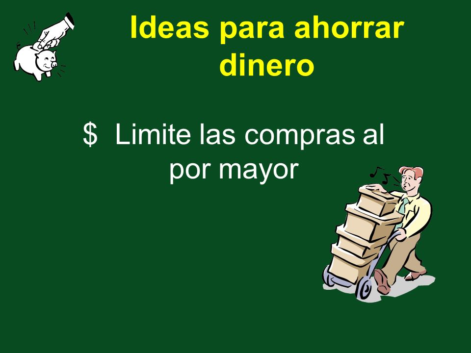 $ Limite las compras al por mayor Ideas para ahorrar dinero