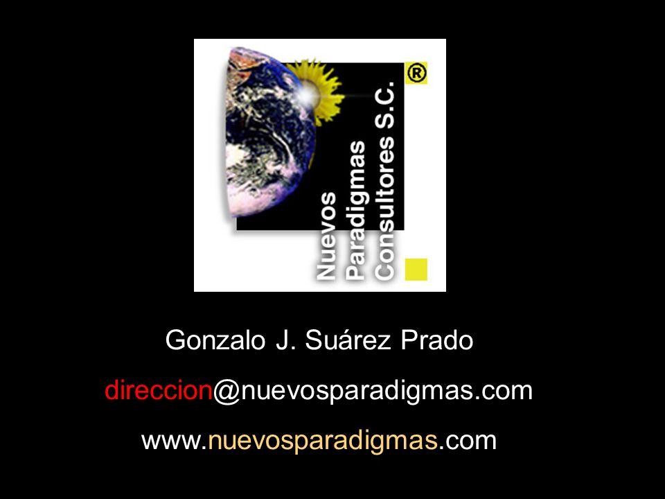 Gonzalo J. Suárez Prado direccion@nuevosparadigmas.com www.nuevosparadigmas.com