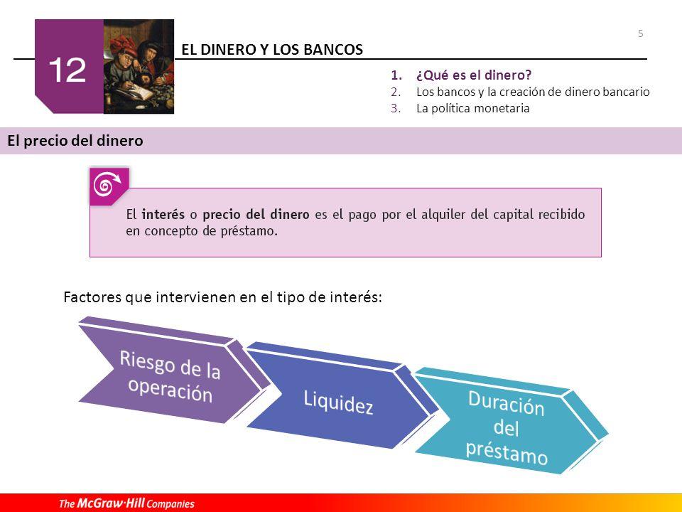 EL DINERO Y LOS BANCOS 6 1.¿Qué es el dinero.