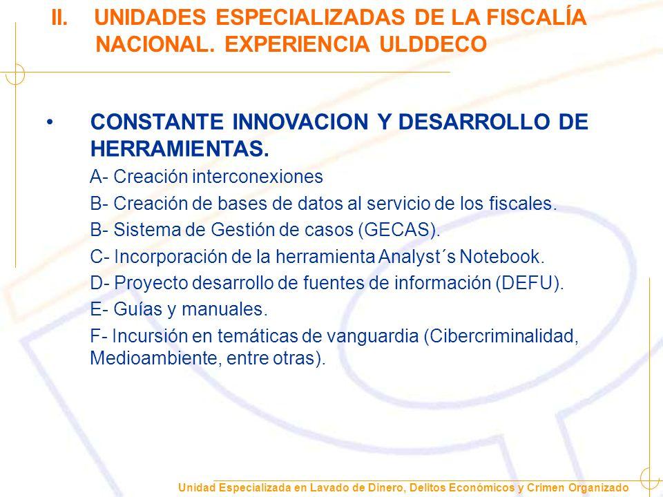 Unidad Especializada en Lavado de Dinero, Delitos Económicos y Crimen Organizado II.