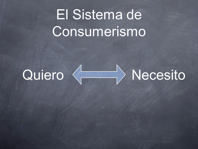 El Sistema de Consumerismo QuieroNecesito