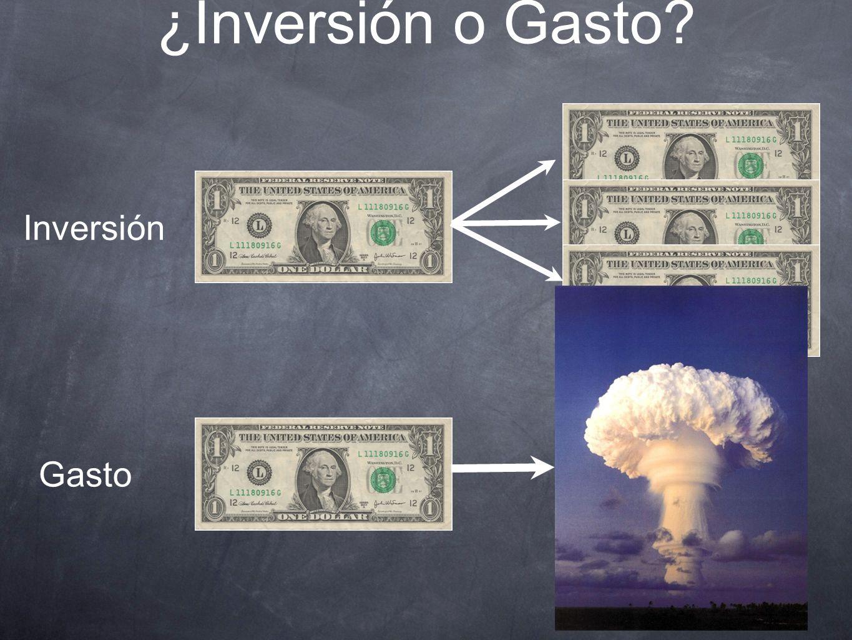 ¿Inversión o Gasto? Inversión Gasto