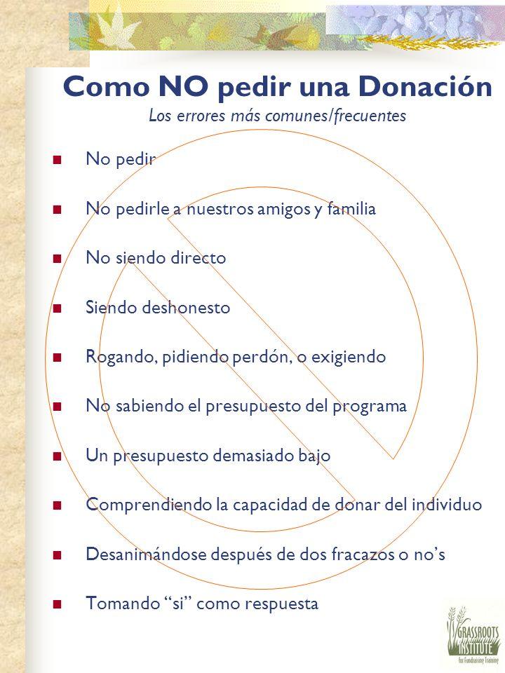 Como Pedir la Donación Pidiendo Pide una cantidad especifica Explica porque necesitan el dinero Di la cantidad otra vez PARA de HABLAR.