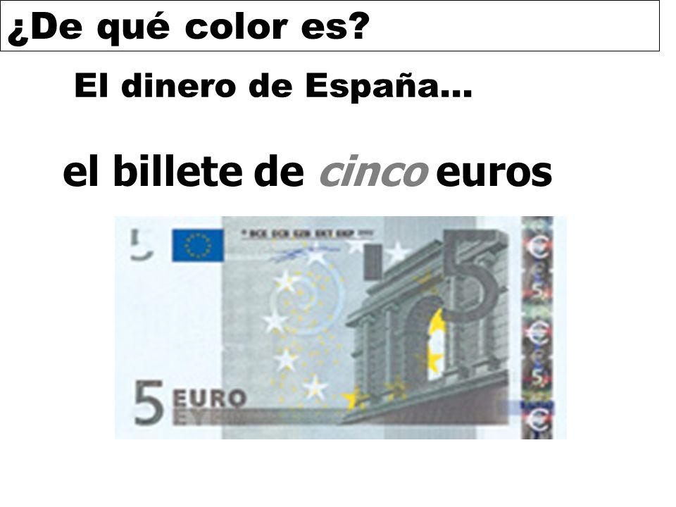 ¿De qué color es? El dinero de España… el billete de cinco euros