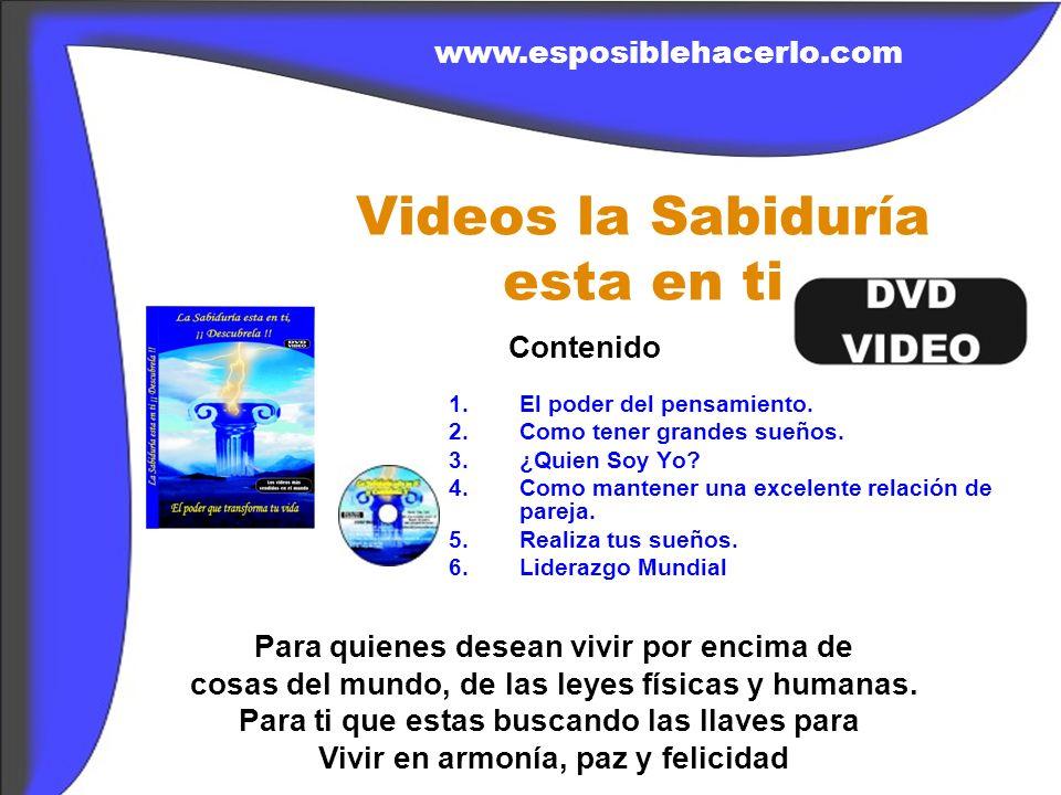 VIDEOS SAGRADOS DE LA SABIDURIA 1.El poder de la afirmación el Si.