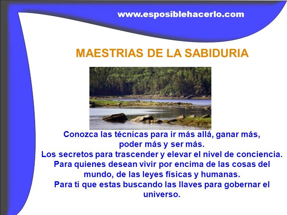 Descarga el libro sagrado de la sabiduría, totalmente gratis en la Web www.esposiblehacerlo.com 1.Conoce las revelaciones mas sagradas para elevar el nivel de conciencia y para trascender.