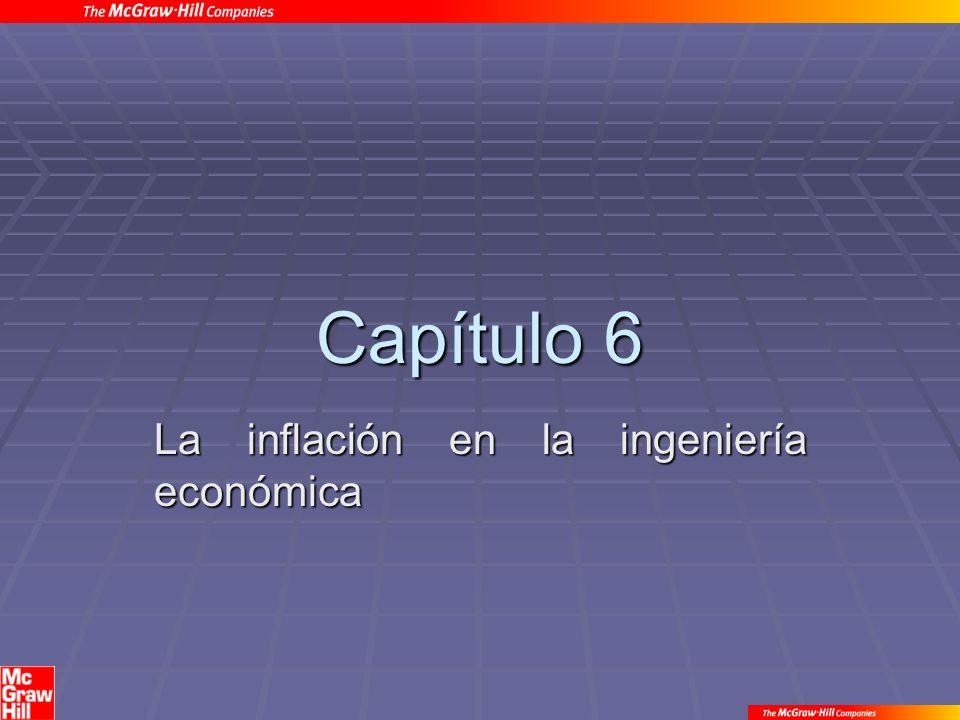 Capítulo 6 La inflación en la ingeniería económica