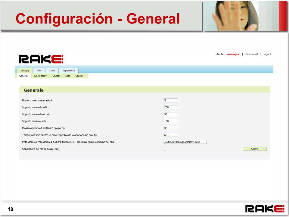 18 Configuración - General