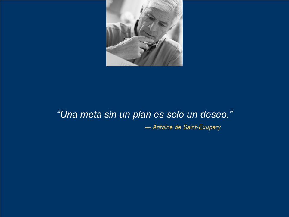 25 Una meta sin un plan es solo un deseo. Antoine de Saint-Exupery