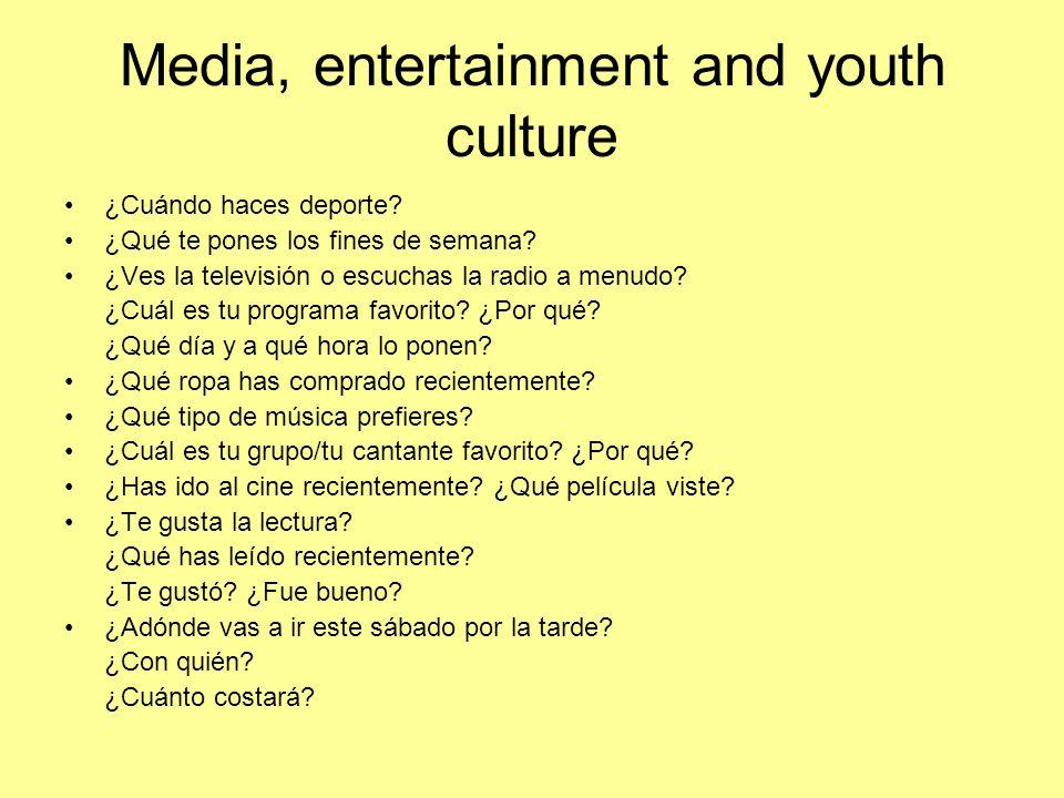 Media, entertainment and youth culture - Higher Describe a una persona que admires.