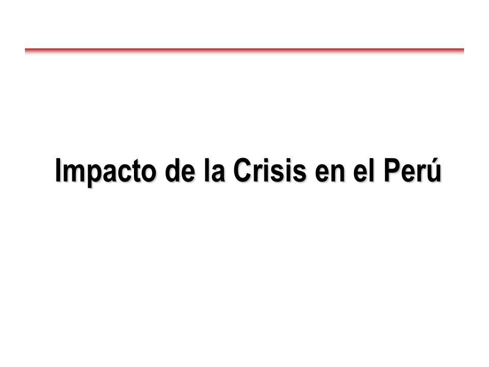 Impacto de la Crisis en el Perú