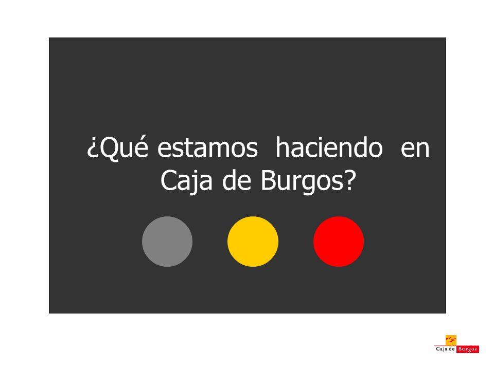 ¿Qué estamos haciendo en Caja de Burgos?