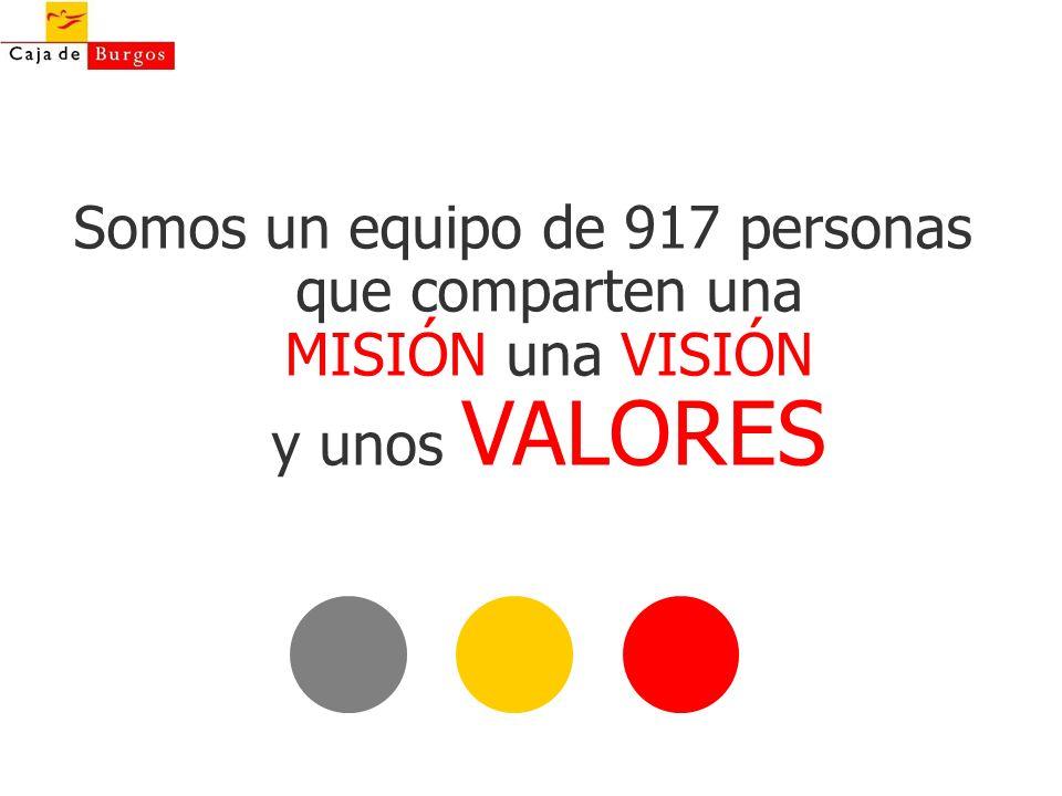 Obra Social y Cultural Somos un equipo de 917 personas que comparten una MISIÓN una VISIÓN y unos VALORES