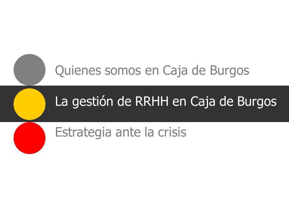 Quienes somos en Caja de Burgos La gestión de RRHH en Caja de Burgos Estrategia ante la crisis