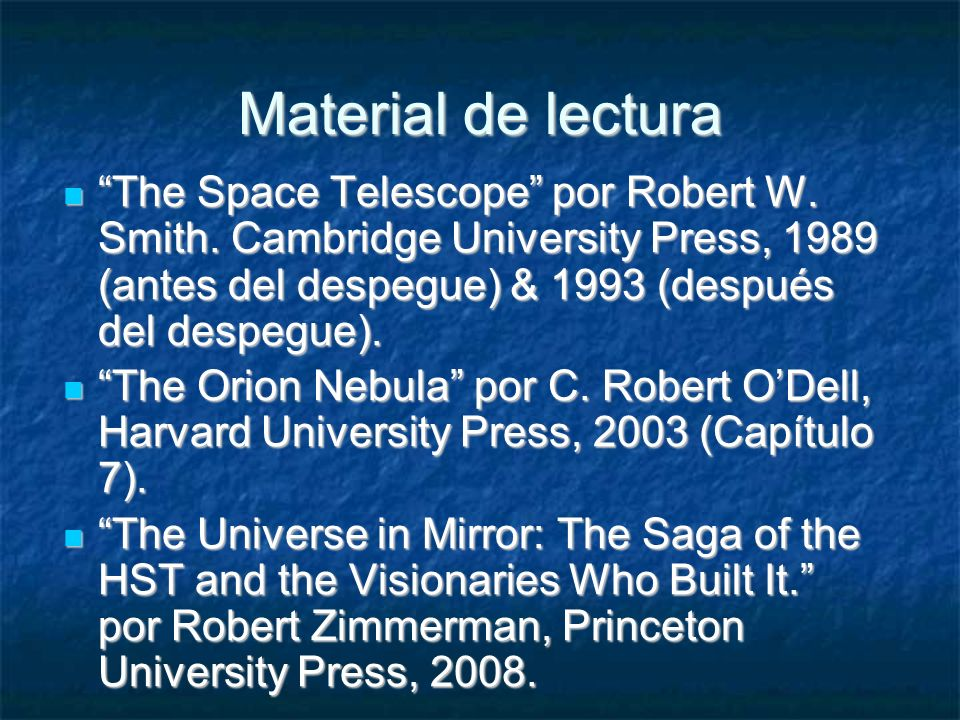 Material de lectura The Space Telescope por Robert W.
