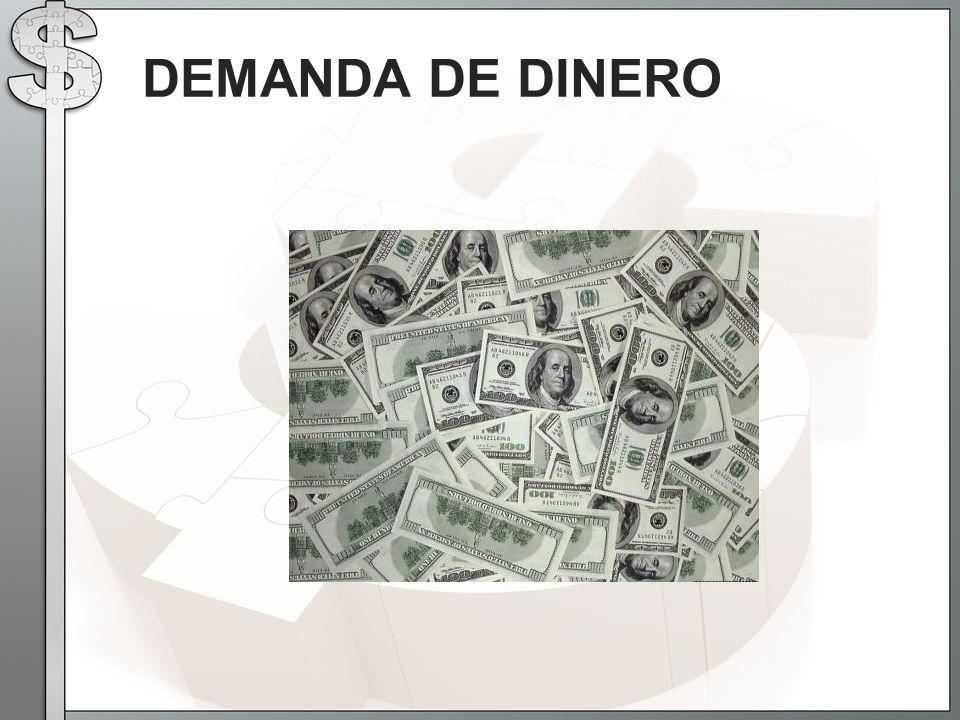 DEMANDA DE DINERO
