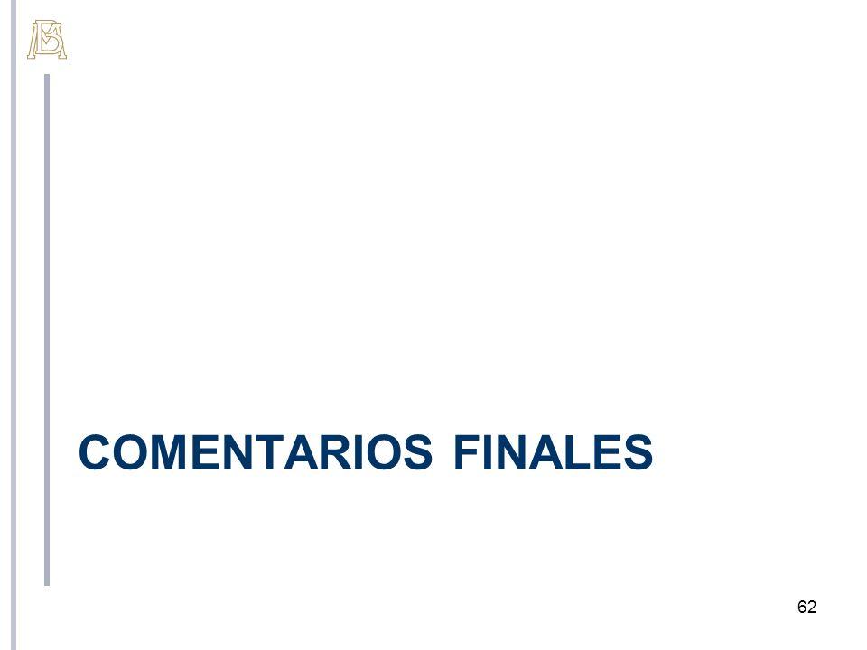 COMENTARIOS FINALES 62