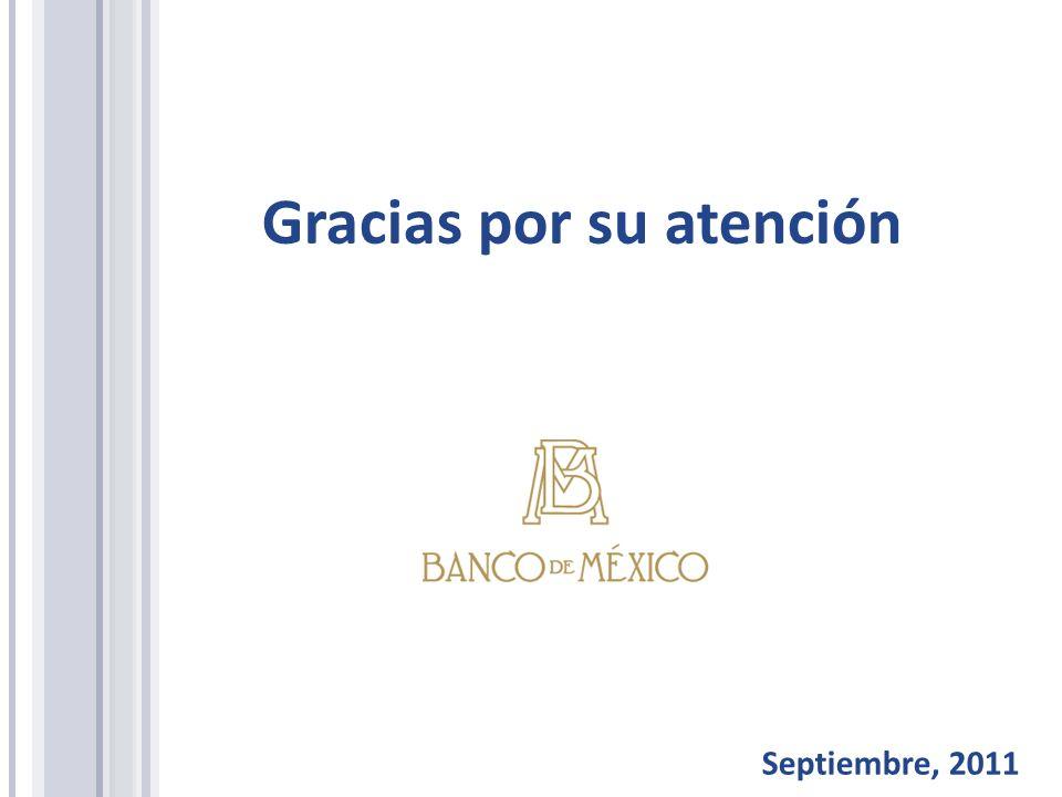 Gracias por su atención Septiembre, 2011