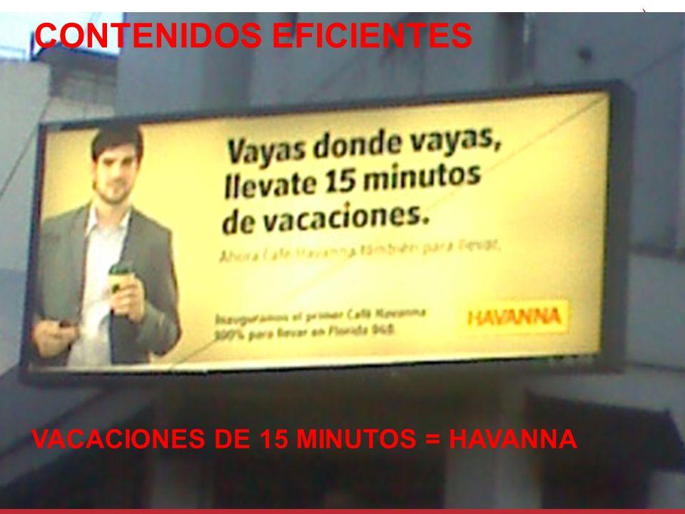 CONTENIDOS EFICIENTES VACACIONES DE 15 MINUTOS = HAVANNA