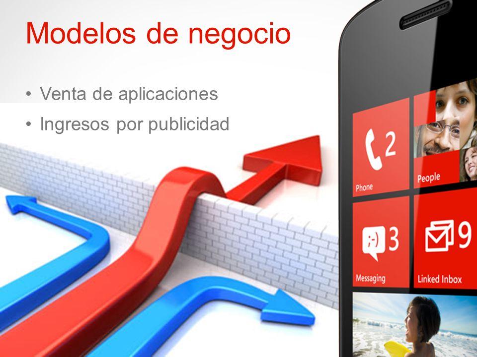 Windows Phone Modelos de negocio Venta de aplicaciones Ingresos por publicidad