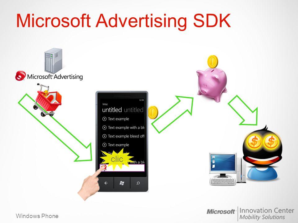 Windows Phone Microsoft Advertising SDK clic