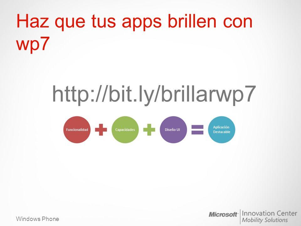 Windows Phone Haz que tus apps brillen con wp7 http://bit.ly/brillarwp7