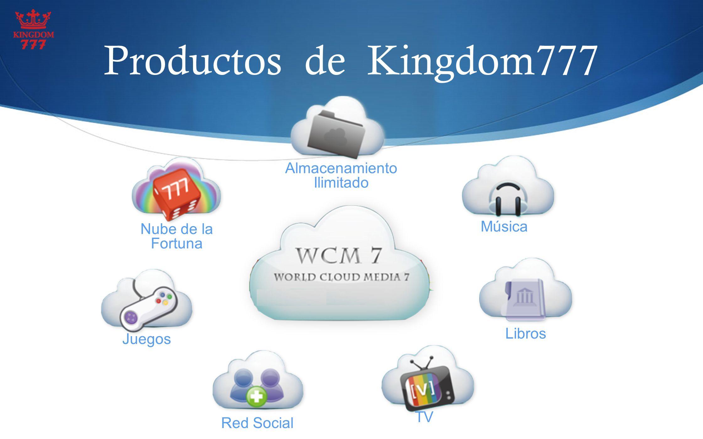 Productos de Kingdom777 Almacenamiento Ilimitado Música Juegos Nube de la Fortuna Libros Red Social TV