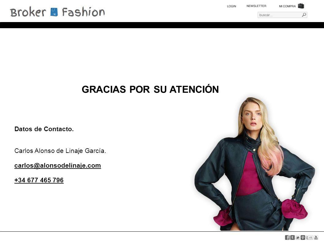 GRACIAS POR SU ATENCIÓN Datos de Contacto. Carlos Alonso de Linaje García.