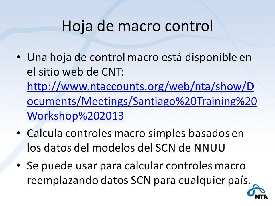 Hoja de macro control Una hoja de control macro está disponible en el sitio web de CNT: http://www.ntaccounts.org/web/nta/show/D ocuments/Meetings/San