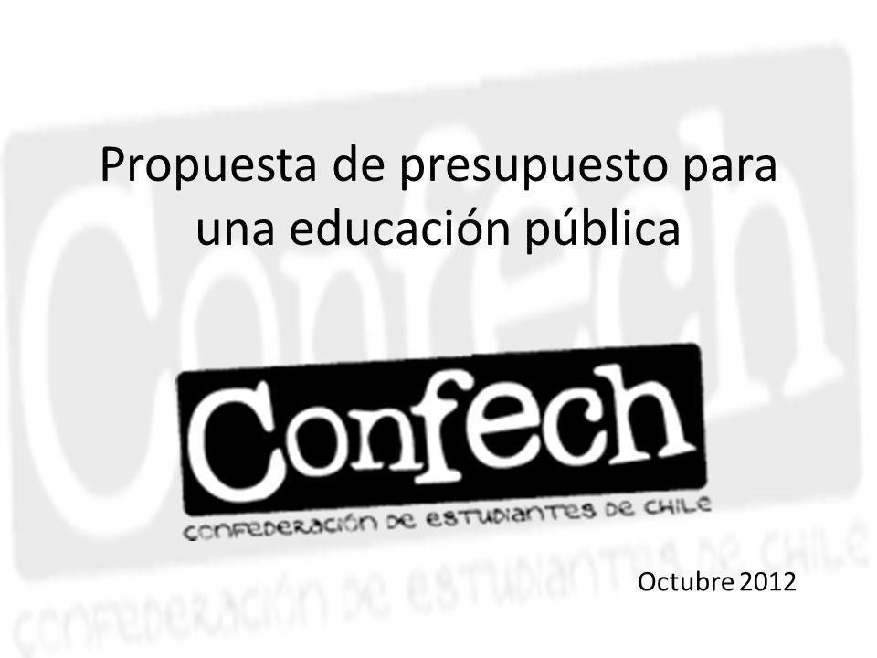 Propuesta de presupuesto para una educación pública Octubre 2012